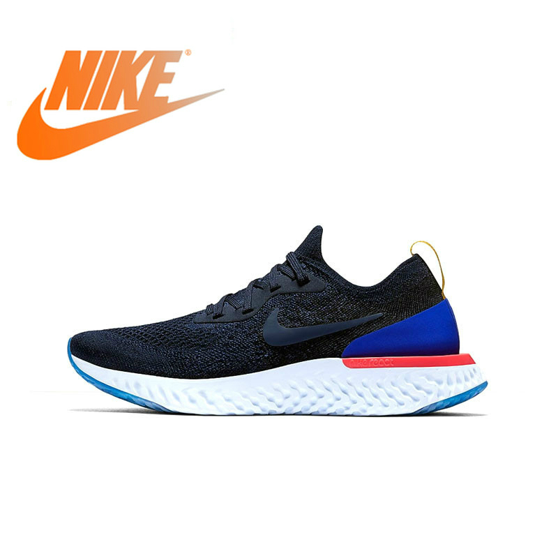 ca0d123f7174 Original Nike New Arrival Authentic Sport Epic React Flyknit Mens Running  Shoes Outdoor Good quality AQ0067 100-in Running Shoes from Sports    Entertainment ...