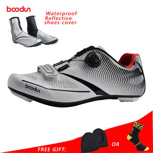 c63cd975be Boodun Outdoor Sports Cycling Shoes Men Pro Road Bike Shoes Waterproof  Breathable Light Athletic Self-locking Racing Shoes Men