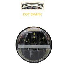 5.75″ 5 3/4 LED Motorcycle Headlight Moto DRL Black For Harley Sportster 1200 XL1200L Custom XL1200C 883 XL883 883L XL883R