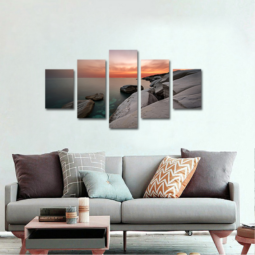 Unframed Canvas Painting Sea Level Reef Sunset Photo Picture Prints Wall Picture For Living Room Wall Art Decoration