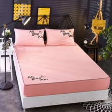 New Bed Sheet Fitted Sheet With Elastic Band Plain Bedding King Queen Size Bed Mattress Cover Bedsheet 120*200/180*220/200*220cm