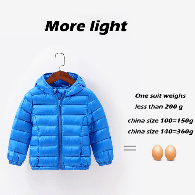 fc5c8b524 HH Spring fall Light children s winter jackets Kids cotton Down Coat ...