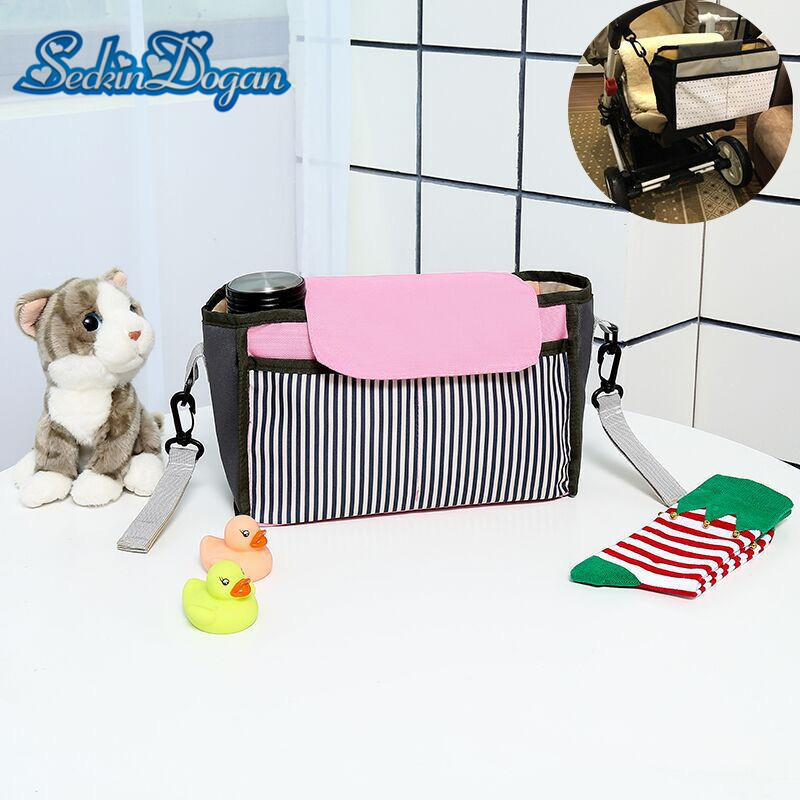 Baby Stroller Bag High Quality Hanging Carriage Washable Wet Bags Large capacity Outddor Baby Care Diaper Bag