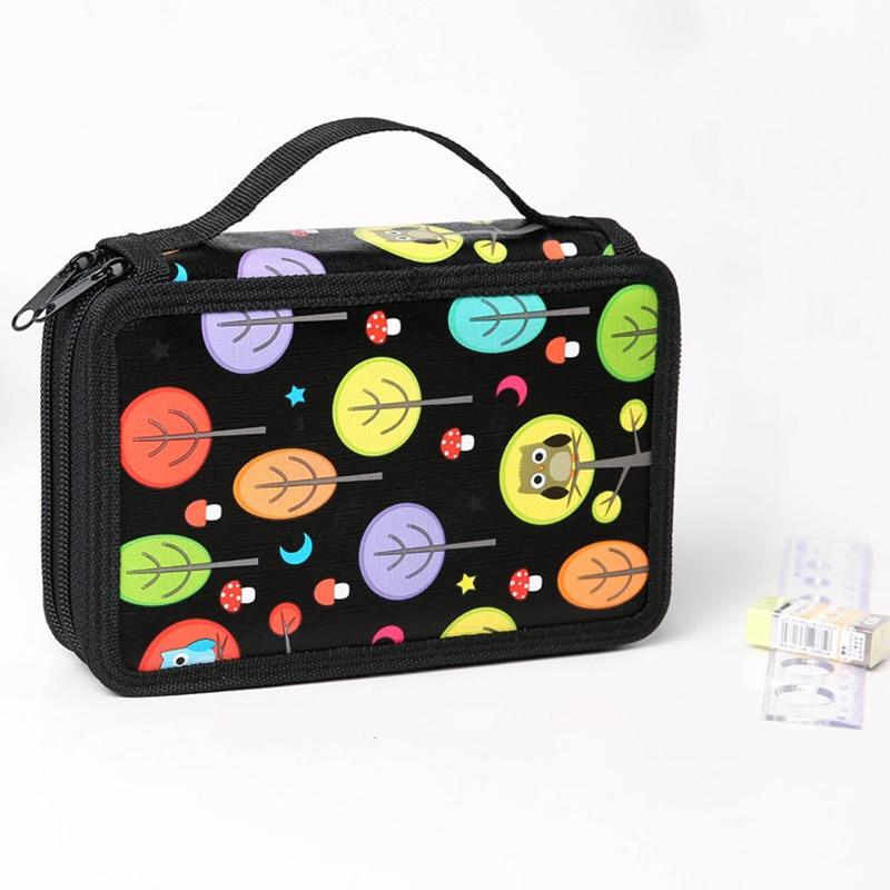 Animal 32/52/72 Holes Art Marker Bag Stationery Girls Boy Big Pencil Case Kid Drawing Sketch Pen Box Orangizer Storage Pouch