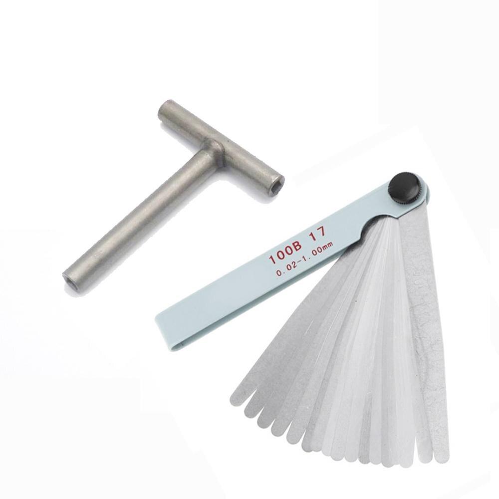 Engine Valve Screw Adjusting Spanner Square Wrench Spanner Tool +  17 Blades Feeler gauge 0.02 1.00mm|Hand Tool Sets|   - AliExpress
