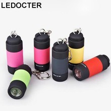 Multicolor Mini LED Torch USB Rechargeable Flasshlight Small Pocket Keychain Flash light Portable Hand Lamp IP67 Waterproof(China)