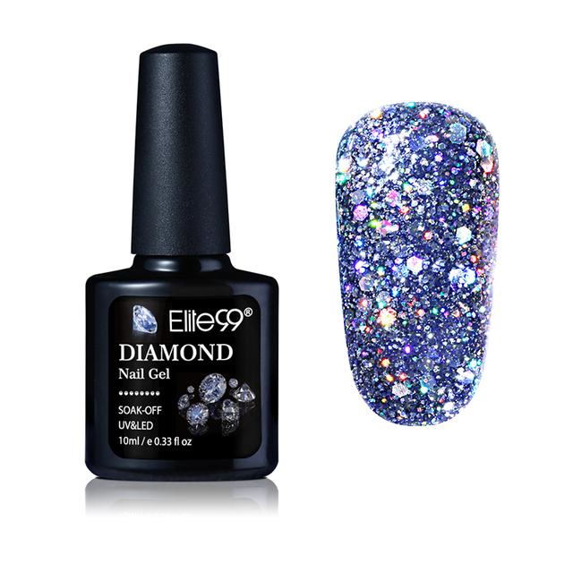 Elite99 10ML Diamond Nail Gel Glitter LED UV Gel Manicure Shiny Sequins Soak Off Gel Nail Polish Vernis Semi Permanent Gellak