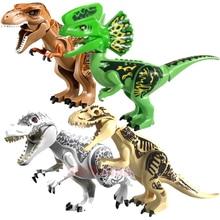 Super Heroes Jurassic World Dinosaur Building Blocks Tyrannosaurus Action Figures Brick Toys Compatible With Sermoido