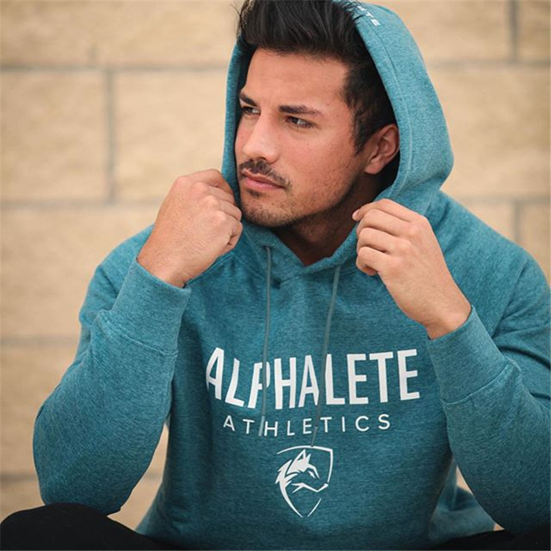 2018 New Fashion Brand Men Cotton Hoodies Gyms Fitness Bodybuilding Sweatshirt Pullover Sportswear Male Casual Clothing