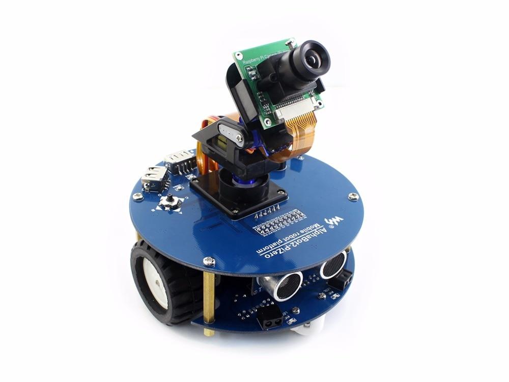 AlphaBot2 robot building kit for Raspberry Pi Zero Zero W no Pi Ultrasonic sensor RPi Camera