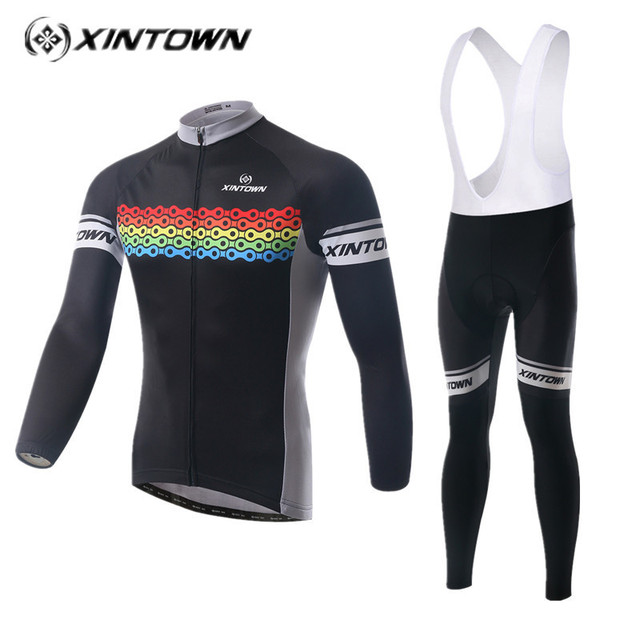 Homens XINTOWN conjunto camisa de Ciclismo 2018 ropa ciclismo Manga Longa  Jaquetas Ciclo de Desgaste Da 0235a6d0cde92