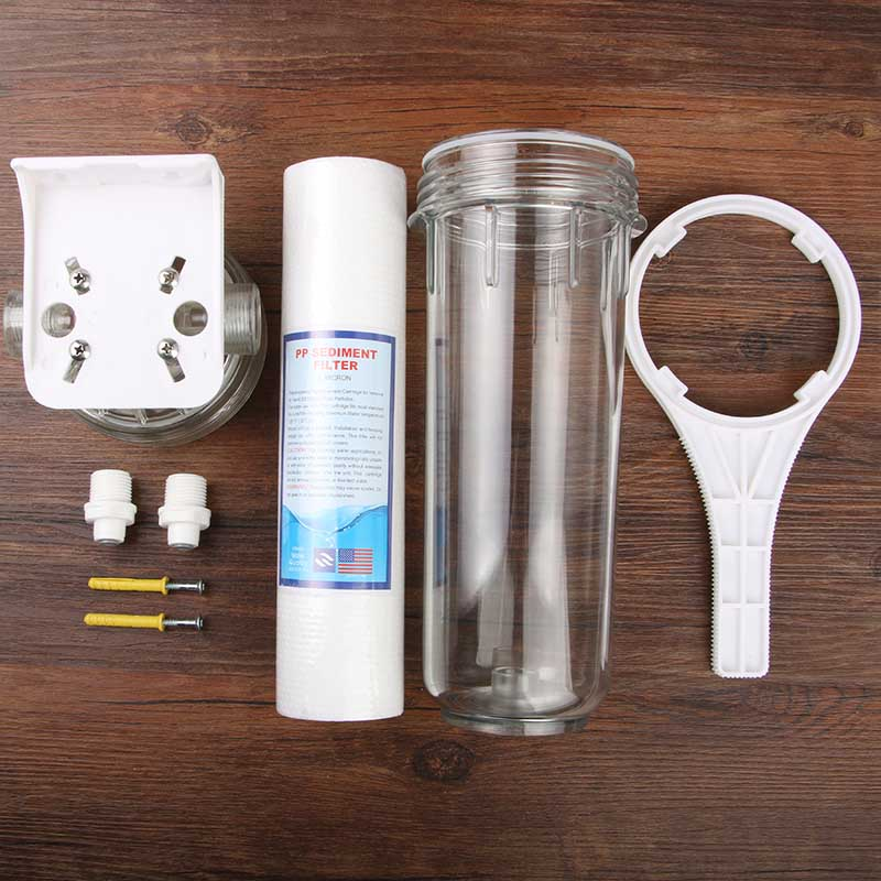 Household Water Purifier Prefilter Set Tap Filter Backwash Kitchen Water Filter 10 inch Hanging Single-stage Water