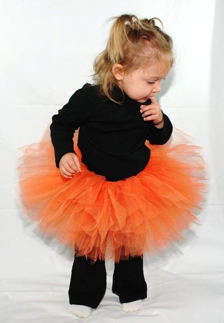 Laranja Mais Novo fofo Fotografia menina tutu saia de tule crianças dos miúdos rosa traje da criança do bebê vestido de baile pettiskirt ballet