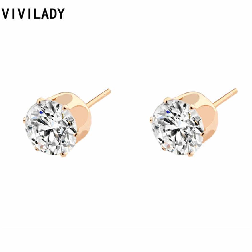 VIVILADY צבע זהב חדש אופנה נשים שרשראות עגילים אפריקאים סטי שמנמן Chokers Rhinestones תכשיטי כלה אבזר מתנות