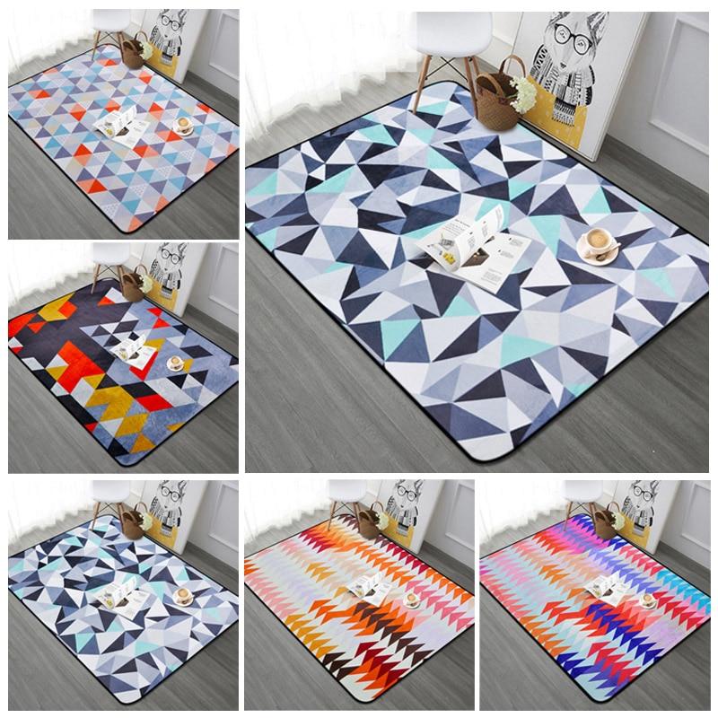 Nordique géométrique salon tapis anti-dérapant doux canapé/chambre fenêtre plancher tapis maison décorative café bureau tapis 100x150 cm