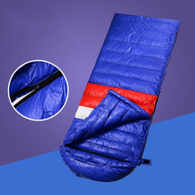Ultra Light Outdoor Portable Duck Down Sleeping Bag Camping Climbing Sleeping Bag Waterproof Warm Splicing Single Sleep Bag недорго, оригинальная цена