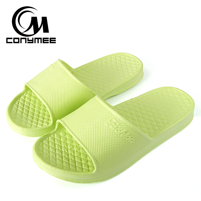 CONYMEE Summer Beach Sandals Flip Flops Women Men Outdoor Casual Shoes Sandalias Couples Indoor Home Slippers Bath Slipper Shoe marlong summer beach slippers women slippers bathroom no slide slipper indoor home shoes women flip flops sandals pantufa