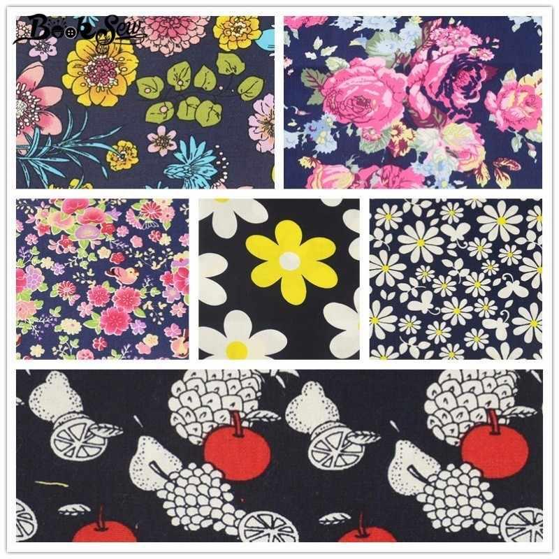 Booksew хлопок поплин рубашка DIY Куклы украшения дома нарезанные Ткань Комплект квилтинга 6 шт. ремесла фрукты и цветок