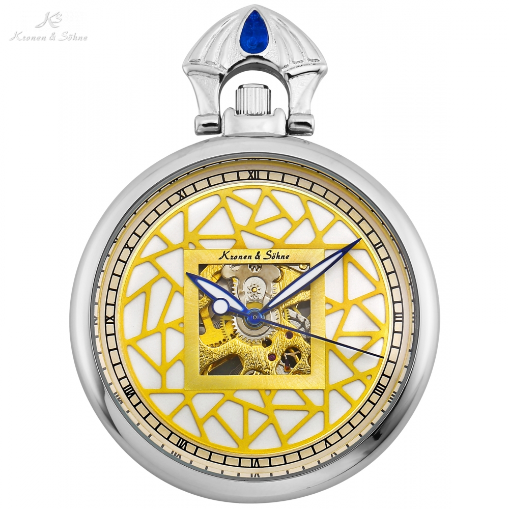 KS Luxury Silver Antique Coin Dial Design Open Face Hand Winding Skeleton Clip Fob Chain Mechanical Clock Pocket Watches /KSP110 classic roman skeleton cover blue analog movement hand winding relogio clock chain fob pendant mechanical pocket watch wpk202
