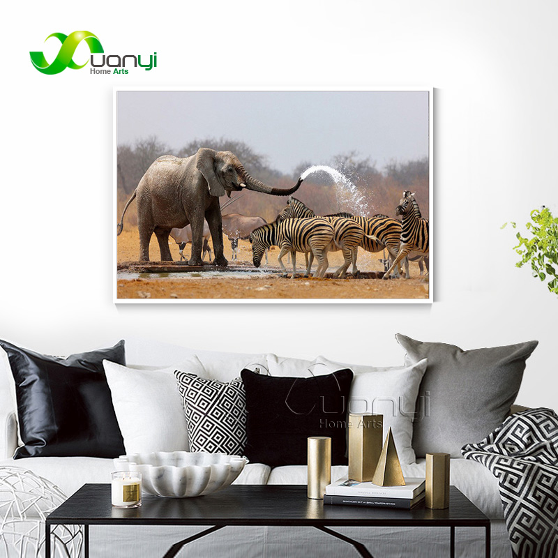 African Animal Elephants Canvas Art Paintings Cuadros Home Decor Wall Art Modular Wall Picture For Living Room No Frame PR1403 african elephant