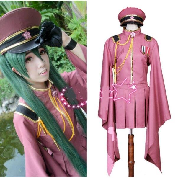 Newest Japanese Anime Yuzuki Yukari Hatsune Miku Gumi Luka Vocaloid Cosplay Costumes