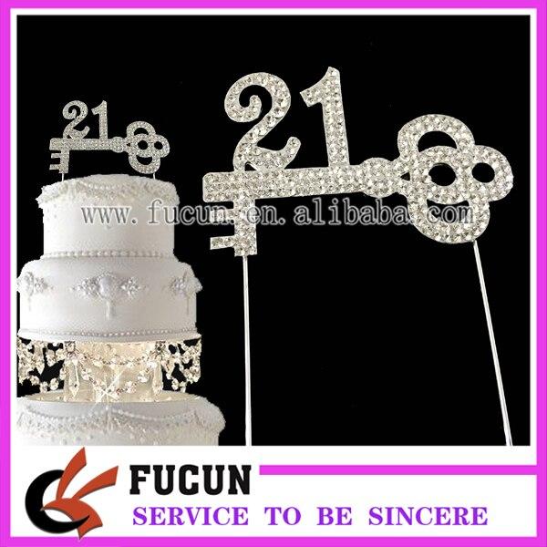 20 Pieceslot New Design Cake Decoration Number 21 Key Shaped