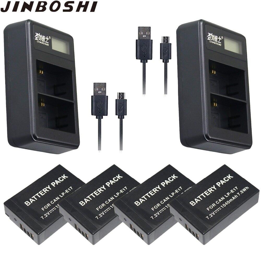 4x LP-E17 LPE17 LP E17 Batterie & 2x USB Double Chargeur pour appareil photo Canon EOS 77D M3 M5 M6 Rebelles T6i 750D T6s 760D T7i 800D Baiser X9i 200D