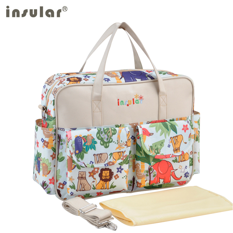 Mommy Bag For Stroller Carriage Waterproof Baby Diaper Bag Cartoon Pattern Materity Bag For Baby Care Large Capacity Handbag