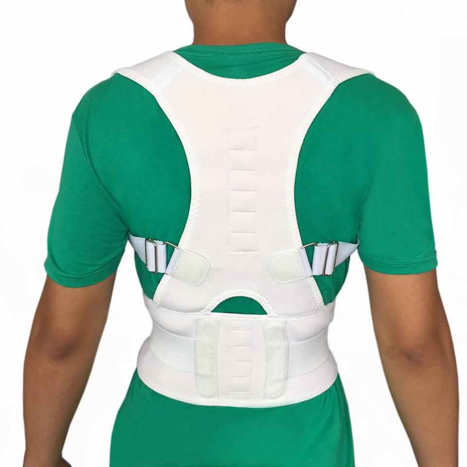 Corsé ortopédico Hombres Mujeres Cinta Magnética Del Hombro Volver Corrector de Postura Espalda corrector de Postura Corrección de La Terapia Magnética