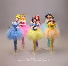 Disney, princesa cinderela, caneta esfera branca de neve, 6 pçs/set 19cm, figura de ação, decoração, coleção pvc, estatueta de brinquedos, presente