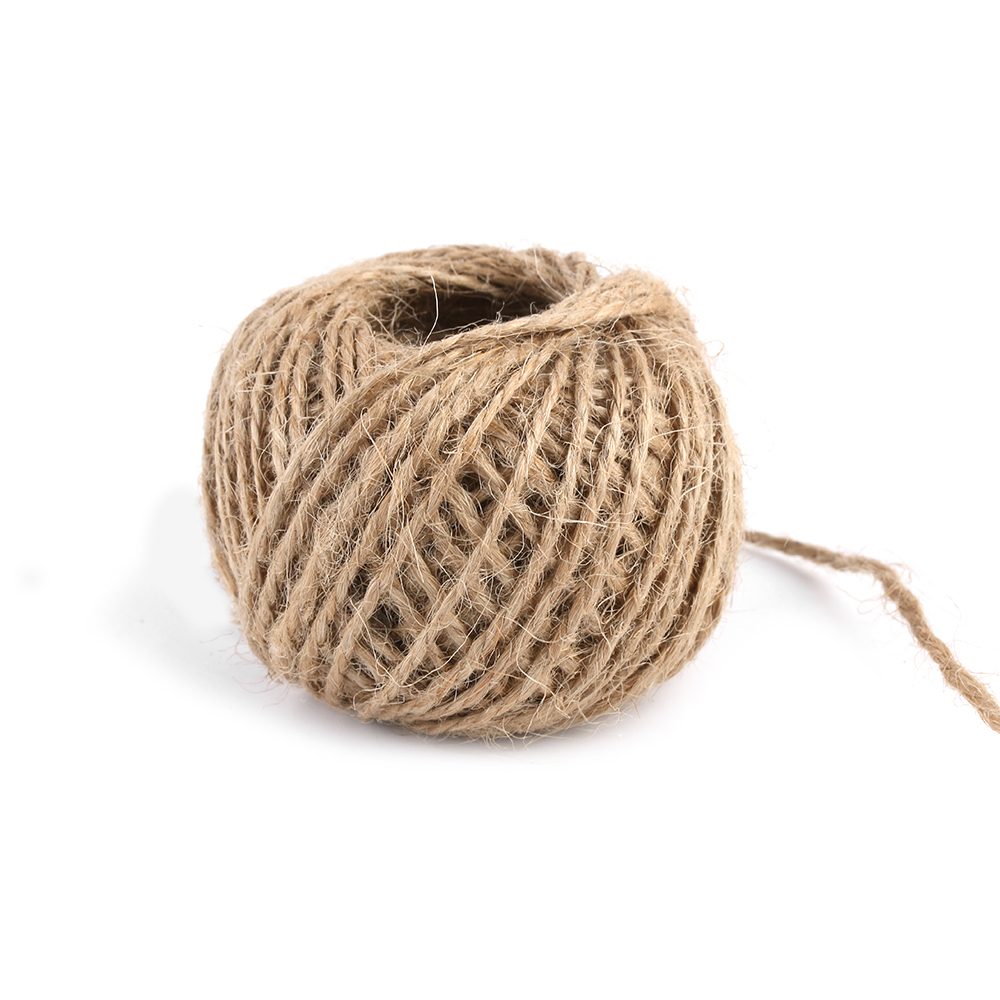Natural Burlap Hessian Jute Twine New Cord Hemp Rope Party Wedding Gift Wrapping