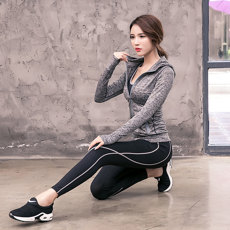 New Yoga Suit Long Sleeve Fitness Suit Outdoor Sports Running Yoga Three-piece Yoga Suit Gym Clothes for Women Wear Workout Set все цены