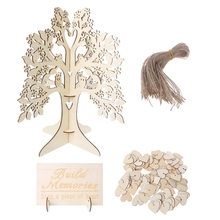 3D Personalized Wood Wedding Guest Book Party Sign Wishing Tree Decorations