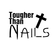 Car -covers 11CM*7.5CM Tougher Than Nails Christian Cross Jesus Styling Motorcycle Stickers And Decals Jdm
