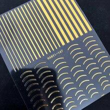 Новейший стикер золото-147 ногтей