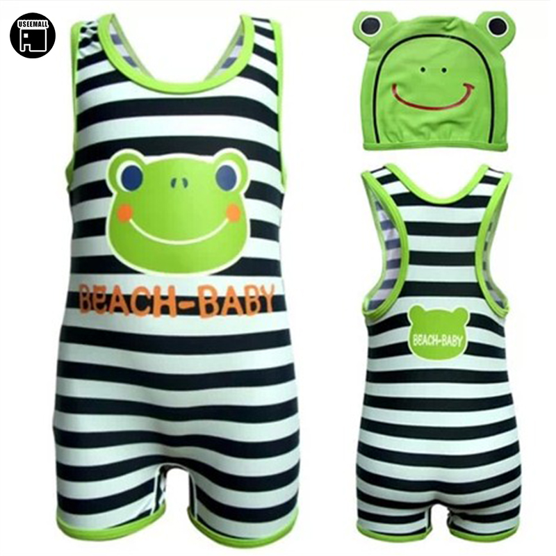 USEEMALL One Piece Swimsuit Cartoon Swimwear for Children Bathing Suit  Sunscreen UV Boys Girls Swimming Suit Quick Drying 2-6Y