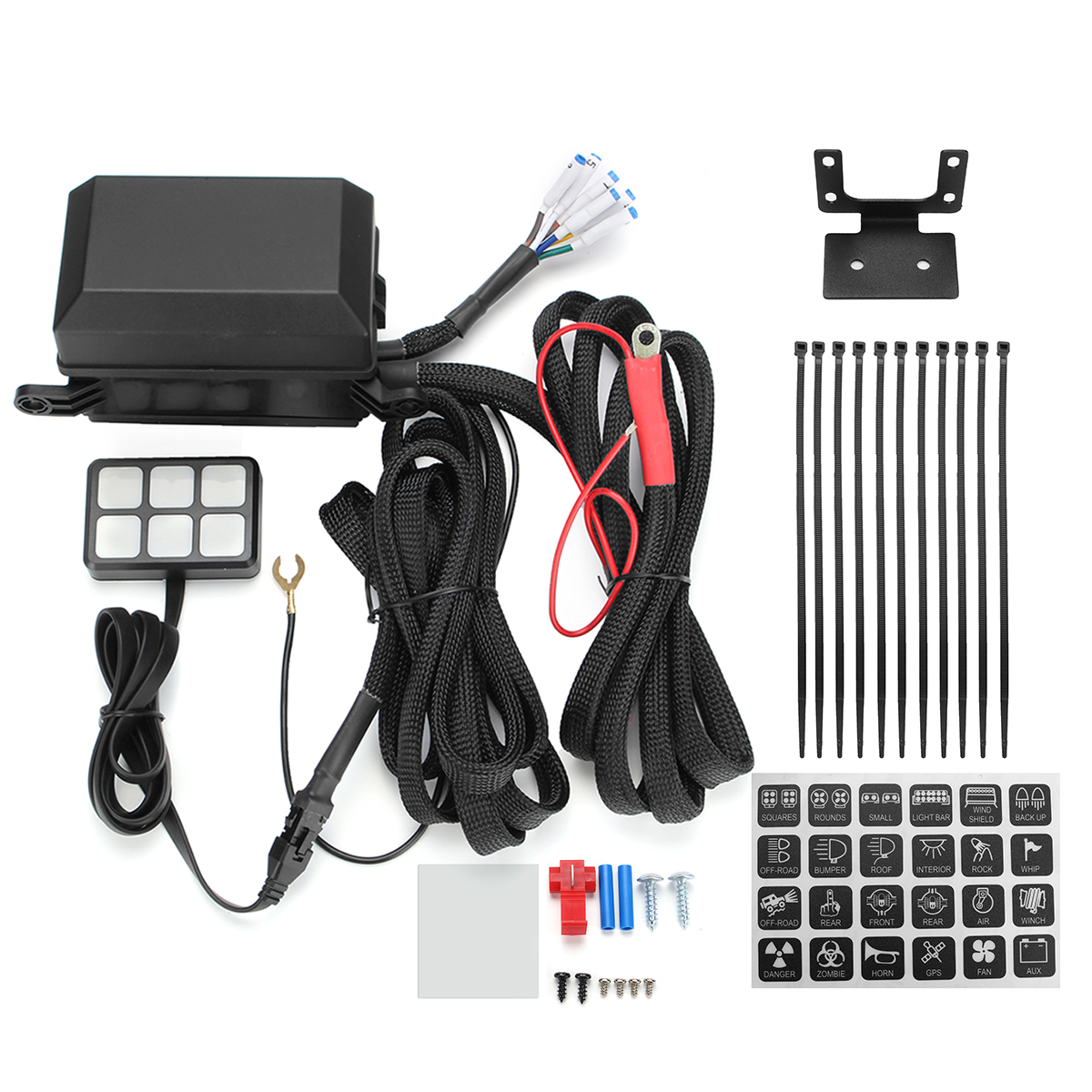 Universal Car Boat Marine Caravan Rv 6 Switch Panel Relay Fuse Wiring Harness Electronic System Circuit Control Box