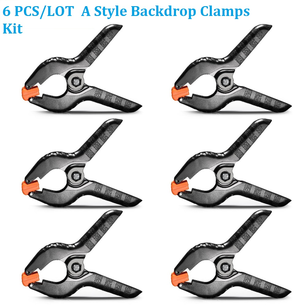 "6pcs / lot 4 ""Inch Universal Studio Backdrop Clamps Latar Belakang Kewajaran Latar Belakang Muslin Photo Studio Clips"