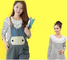 New arrival  Korean fashion large size maternity pants autumn pregnant Bib SH-X5893
