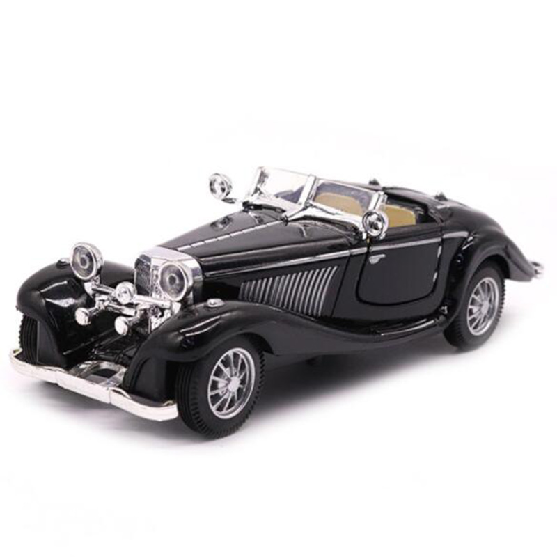 Black Color 1:28 Scale 16.8CM Metal Alloy Diecasts 500K Classic Pull Back 1936 Car Model Vehicles Model Toys For Kids Collection