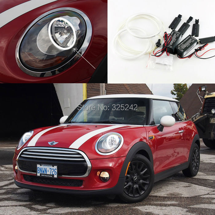ФОТО For mini cooper 2014 Excellent Quality angel eyes Ultrabright headlight illumination CCFL Angel Eyes kit Halo Ring