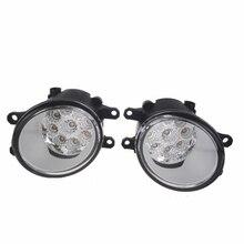 Для Toyota Corolla Verso S Avensis T25 Camry Verso Desire ist Ractis 2003-2014 автомобиль-Стайлинг LED туман света DRL Противотуманные огни 1 компл.