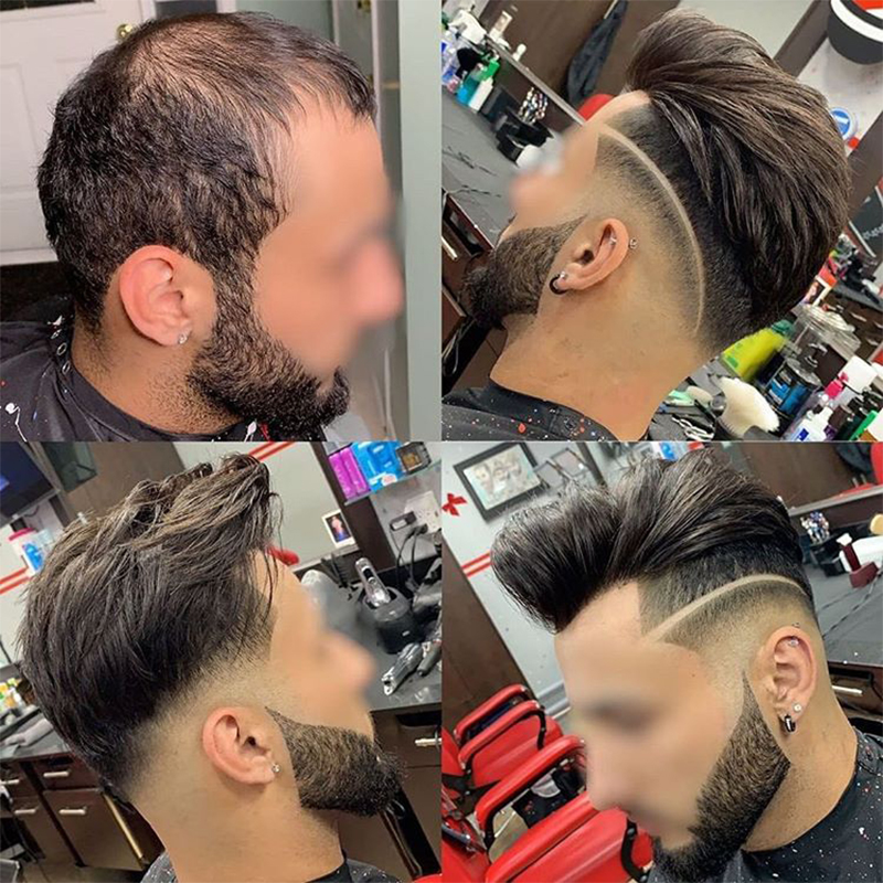 """Men Toupee #1B OSCAR 8X10"""" Swiss Lace Center And Front Poly Around Hair Replacement Lace Hair Prosthesise Dolago Silk Base Hair"""