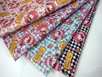 145 90cm Whisper Periphery Waterproof PVC Fabric Lovely Rabbit Mymelody Candy Patchwork Tablecloth Printed Quilting