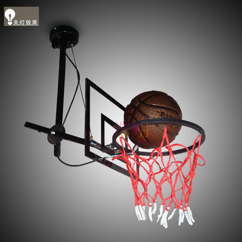 Basket-ball football basket-ball stand tête brevet flexible adju pendentif lampe LO844