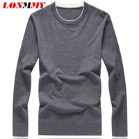 LONMMY Plus Size 7XL 8XL Knitted Pullover Men Straight Long Casual Mens Pullover Sweater O Neck