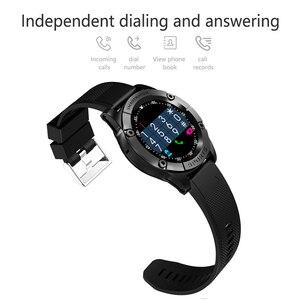 Image 2 - Relógio inteligente homem esporte adulto à prova dwaterproof água relógio inteligente android suporte cartão sim tf crad pedômetro câmera bluetooth smartwatch