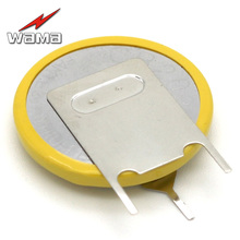 50pcs/lot CR2025 Button Cell Batteries 3V 3 Feet Welding Solder Pins 150mAh Bluetooth Watch Accessories 2025 Coin battery