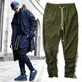 Yeezy Pants Men High Quality Kanye West Harem Cargo Joggers Military Army Hip Hop Drawstring Trousers Yeezy Pants