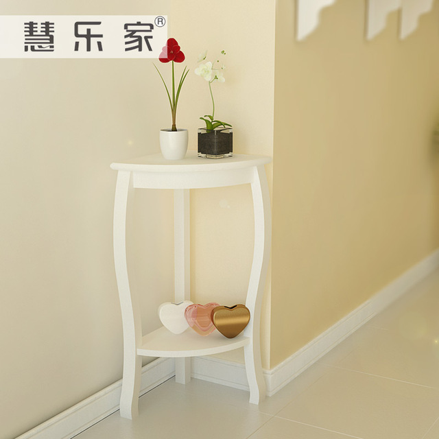 Hui Minimalis Sudut Sofa Meja Samping Kopi Ruang Tamu Kecil Kayu Kaki Beberapa Teasideend